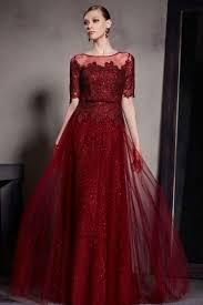 robe de mariã e bordeaux robe soirée longue en tulle bordeaux à encolure bateau robe de