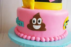 padicakes emoji party cake and cupcakes