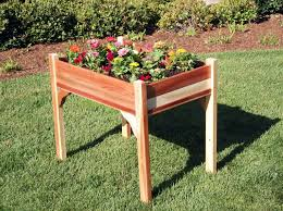 Planters glamorous elevated planter box Standing Planter Box