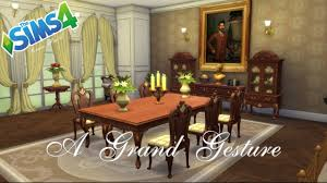 Grand Dining Room The Sims 4 Room Build A Grand Gesture Youtube