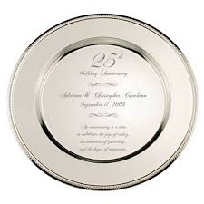 25th anniversary plates personalized personalized 25th wedding anniversary plate bestseller