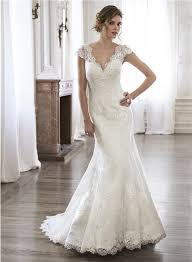 lace wedding dresses vintage scalloped neckline open back vintage lace wedding dress with cap