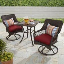 Patio Swivel Chair Martha Stewart 3 Piece Solana Bay Patio Swivel Chair Set Ebay
