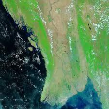 Irrawaddy River Map Nasa Hurricane Season 2008 Tropical Storm Nargis Indian Ocean