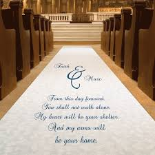 aisle runners for weddings wedding aisle runner customized personalized from this day