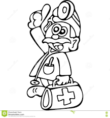 funny doctor coloring pages stock illustration image 82220367