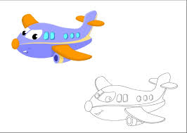 airplane colored coloring pages kindergarten preschool