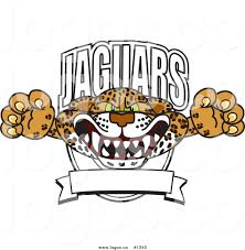 jaguar clipart royalty free vector logo of a cartoon jaguars mascot with