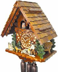 cuckoo clock 8 day movement chalet style 40cm by august schwer