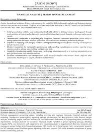 Sample Resume For Accountant by Financial Analyst Resume Samples Perfect Financial Analyst Resume