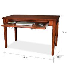 Laptop Desk Mission Wooden Laptop Desk With Pullout Compartment Free