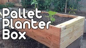 pallet planter box youtube