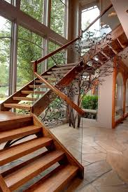 Wood Banisters Rustic Open Staircase Staircase Rustic With Wooden Staircase High