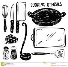 ustensil cuisine cooking utensil doodle stock illustration illustration of measuring