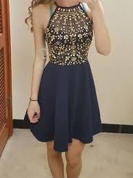 blue graduation dresses custom made neck navy blue prom dresses navy blue