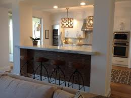 living room bar traditional family room idea in los angeles with