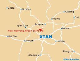 map of xi an xian maps and orientation xian shaanxi china