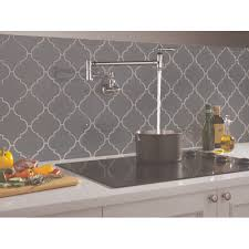 Pot Filler Kitchen Faucet Delta Faucet 1177lf Traditional Polished Chrome Pot Filler Kitchen