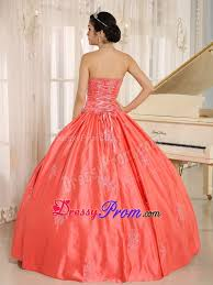 ball gown watermelon embroidery sweet 16 dresses