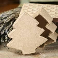 Paper Mache Christmas Crafts - paper mache christmas tree box paper mache basic craft