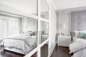 teen bedroom with mirrored closet doors contemporary u0027s room