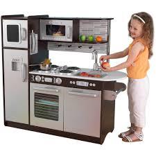 kidkraft uptown espresso kitchen wooden play kitchens popsugar