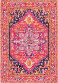 5 By 7 Rug Amazon Com Traditional Vintage Katrina Blooming Rosette Pink Area