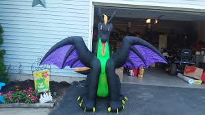 new for 2017 halloween inflatable 7 5ft wide dragon review youtube