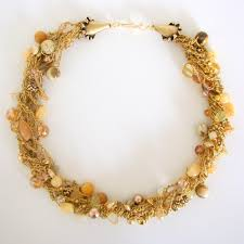 beads crochet necklace images Gold sparkle cord and bead crochet necklace artfully your creations jpg