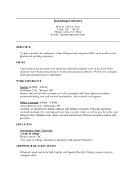 Chemistry Skills Resume Where Do You Put Bilingual On A Resume Free Resume Example And