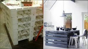 cuisine en palette cuisine bois ilot de cuisine en palette de bois