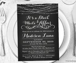 black and white invitations its a black and white affair party invitations black and