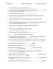 Dna Structure And Replication Worksheet Key Chapter 14 Dna Replication Worksheet Bio 1510 F12 Si Worksheet