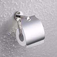 Toilet Stainless Steel A2170 Stainless Steel Toilet Paper Holder Single Roll With Cover