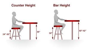 bar height table height bar stools guide