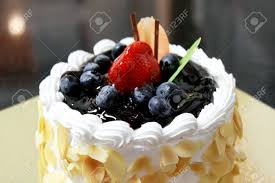 Cheesecake Decoration Fruit A Blueberry Cheese Cake Decorated With Berries Stock Photo