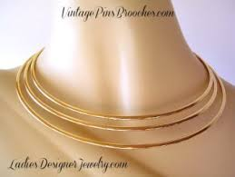 neck ring necklace images Vintage collar choker three tier torque gold tone necklace ladies jpg