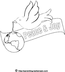 coloring sheet peace dove and earth ornament printable page