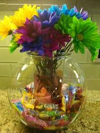 Candy Vases Centerpieces Hershey Kiss Flowers Candy Bouquet 12 Hawaiian Hershey Mac Nut