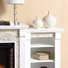 White Electric Fireplace With Bookcase Best 25 White Electric Fireplace Ideas On Pinterest Electric