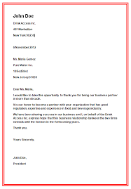 write a business letter sample