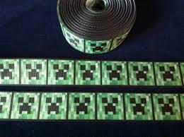 minecraft ribbon minecraft creeper 7 8 grosgrain ribbon etsy 1 70 meter in