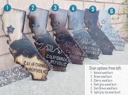 california wall decor ca state flag made with poplar