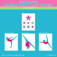gymnastics cake toppers tumbling birthday party customized cake topper set