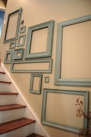 Stairway Wall Ideas by Empty Frames In A Stairway Will Either Come Off Artsy Or