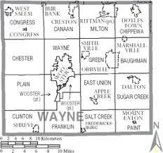 map of counties in ohio wayne county ohio