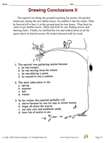 drawing conclusions worksheet gretchen pegitboard