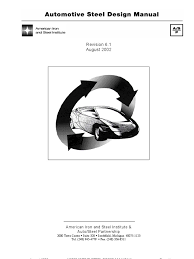 sae automotive steel design manual steel strength of materials