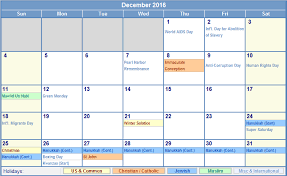 december 2016 calendar holidays archives free printable 2017