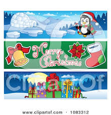 clipart merry christmas banners 2 royalty free vector